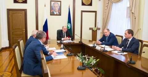 Рашид Темрезов принял участие в видеоконференции с Первым заместителем Председателя Правительства РФ Антоном Силуановым
