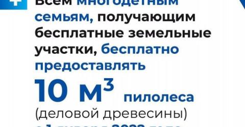 Рашид Темрезов: Всем многодетным семьям, получающим земельные участки, бесплатно будут выделяться 10 кв. метров деловой древесины
